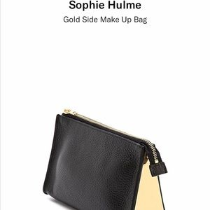 Sophie Hulme gold sided make up bag